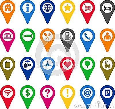 Locators icons