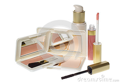 Collection of make up products