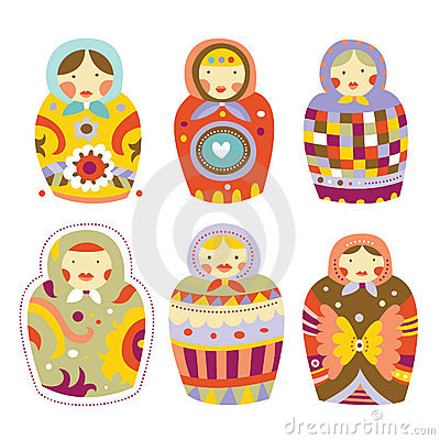 Collection of Matryoshka Dolls