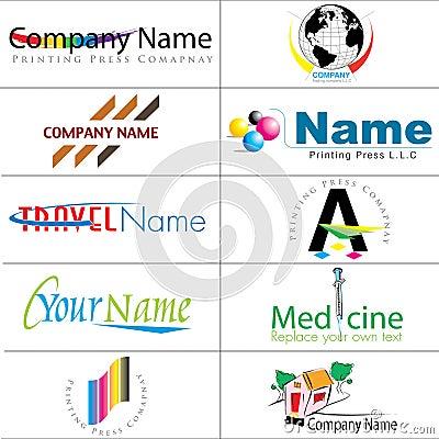 Collection moderne de logos