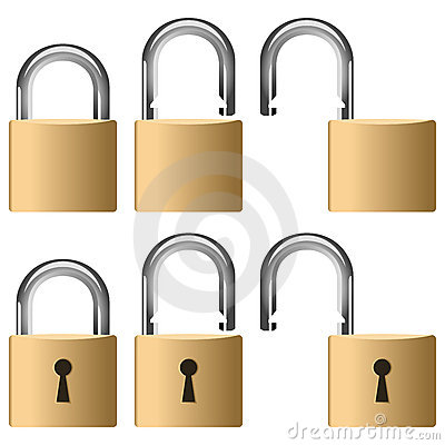 Collection métallique de cadenas