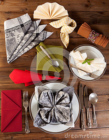 Collection of napkin folding