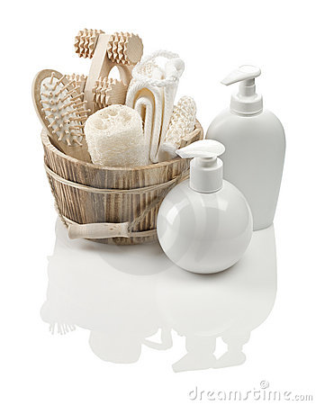 Collection of objects for bathing