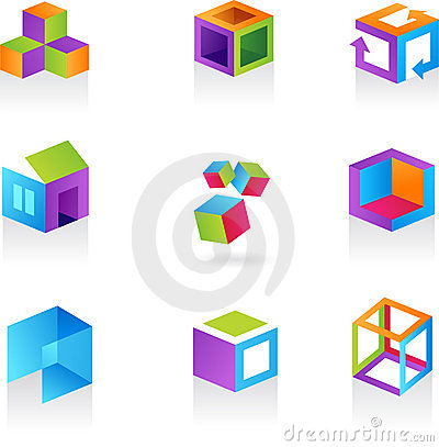 Free Collection Of Abstract Cube Icons / Logos Stock Image - 10502071
