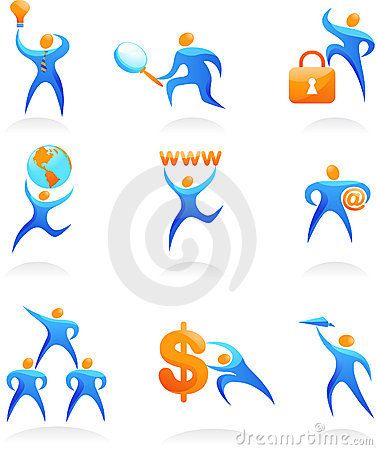 Free Collection Of Abstract People Logos - 10 Stock Images - 12805764