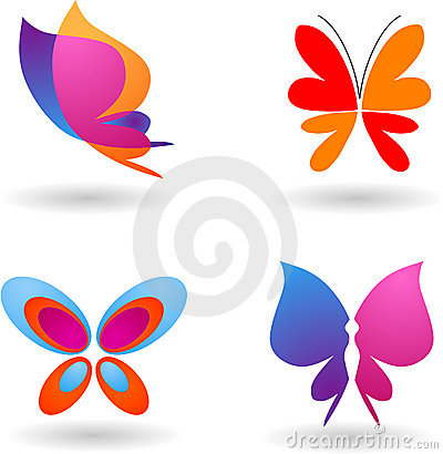 Free Collection Of Butterfly Logos Royalty Free Stock Photo - 6749395