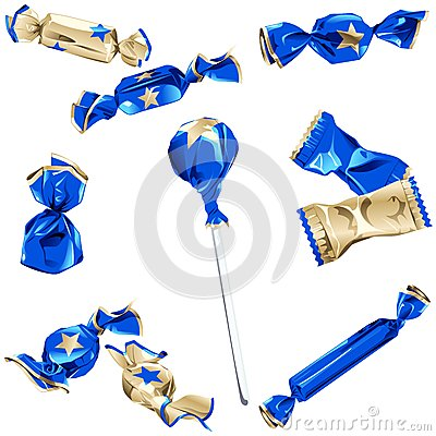 Free Collection Of Candy In Shiny Wrappers Royalty Free Stock Photography - 26550667