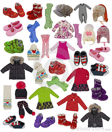 Free Collection Of Children Clothes Royalty Free Stock Photo - 21115065
