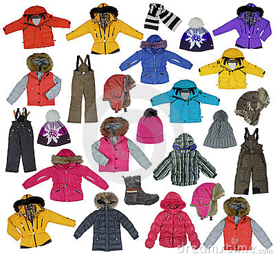 Free Collection Of Children\ S Winter Clothing Royalty Free Stock Photo - 22929515