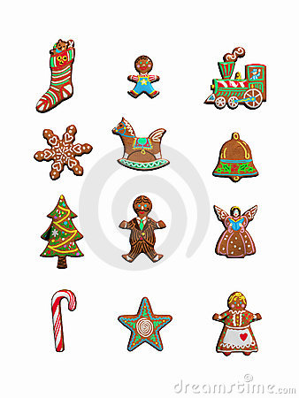 Free Collection Of Christmas Cookies. Royalty Free Stock Photo - 298045