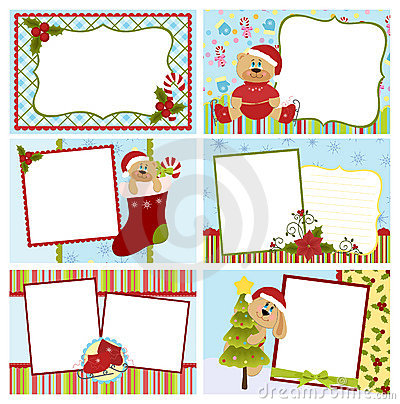 Free Collection Of Christmas Greetings Cards Royalty Free Stock Photos - 16862678