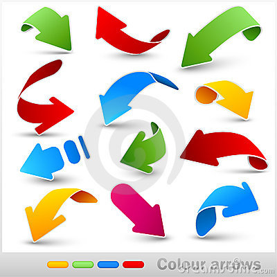 Free Collection Of Colour Arrows Royalty Free Stock Image - 19489066