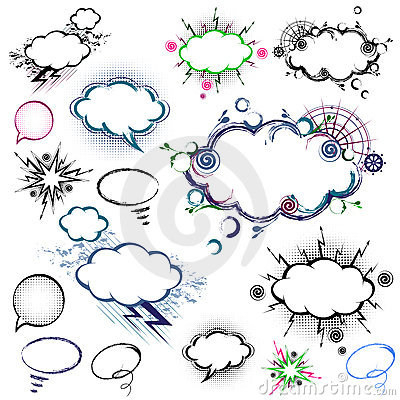 Free Collection Of Comic Style Speech Bubbles - Vector Royalty Free Stock Photos - 18343118