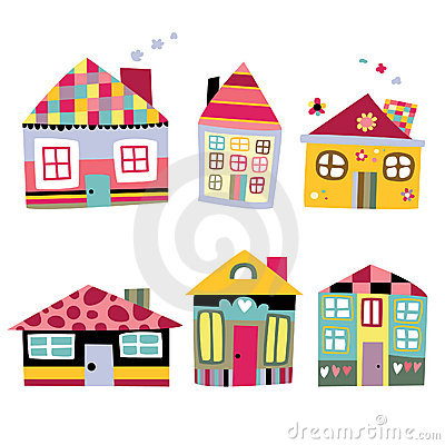 Free Collection Of Cute Houses Royalty Free Stock Photo - 15418745