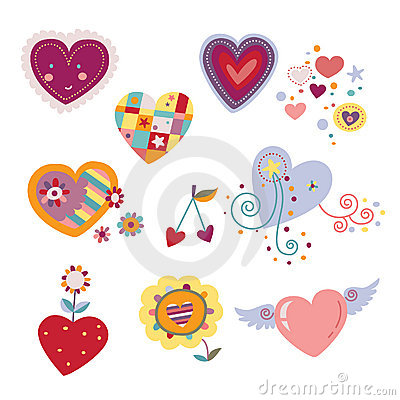 Free Collection Of Decorative Hearts Stock Photo - 15485260