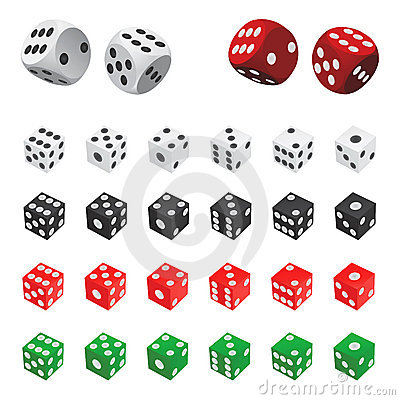 Free Collection Of Dice Vector Stock Image - 5441341