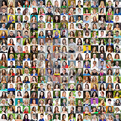 Free Collection Of Different Caucasian Women And Men Ranging From 18 Stock Photo - 90575740
