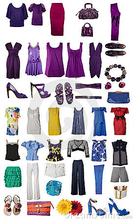 Free Collection Of Dress And Shoes Royalty Free Stock Photo - 7904115