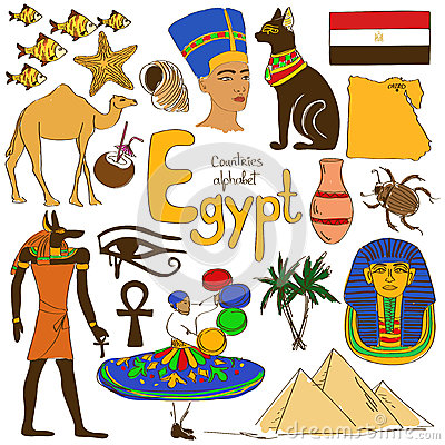 Free Collection Of Egypt Icons Stock Photo - 44936350