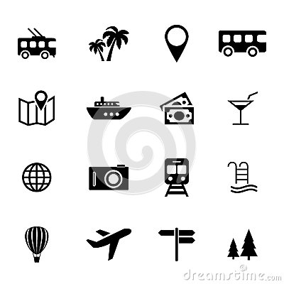 Free Collection Of Flat Icons - Holiday, Traveling, Transport And Vacation - Tourism Related Icons Royalty Free Stock Photos - 49327958