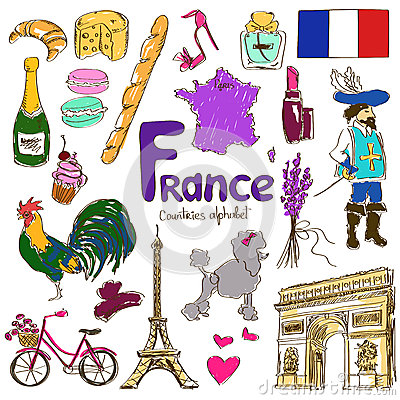 Free Collection Of France Icons Stock Image - 42368181