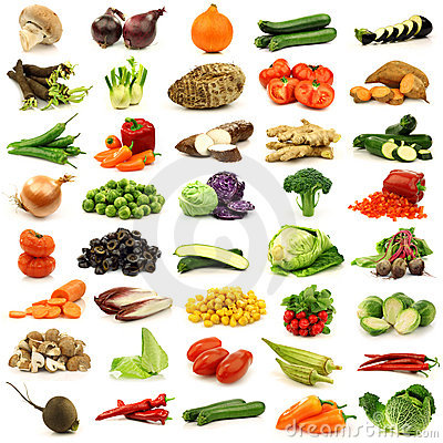 Free Collection Of Fresh And Colorful Vegetables Stock Image - 22005941