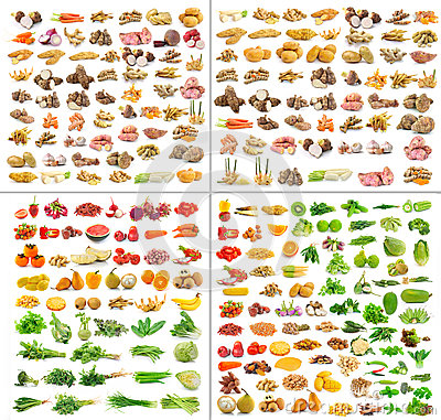 Free Collection Of Fruits And Vegetable Isolated Stock Photos - 40467533