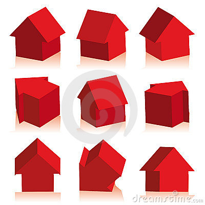 Free Collection Of Houses Red, Icon Royalty Free Stock Photos - 4444208