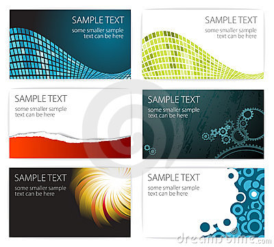 Free Collection Of Modern Business Card Templates Royalty Free Stock Photography - 13001157