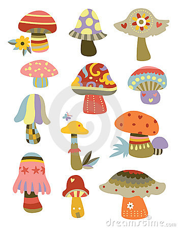 Free Collection Of Mushrooms Stock Image - 15518021