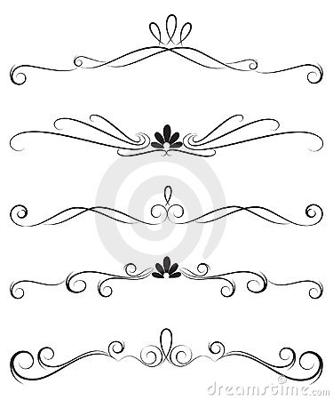 Free Collection Of Ornate Decoration Dividers Royalty Free Stock Photography - 14555657