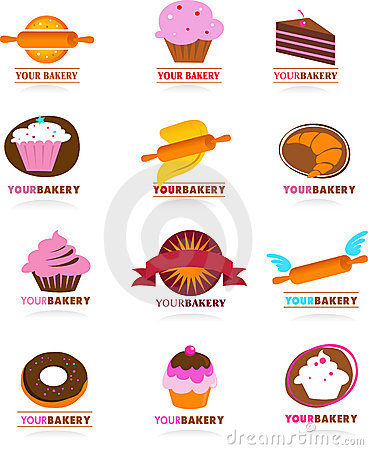 Free Collection Of Pastry Logos Stock Image - 7486081