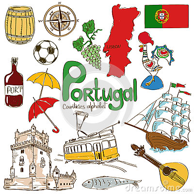 Free Collection Of Portugal Icons Stock Image - 42849801