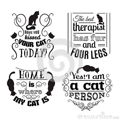 Free Collection Of Quote Typographical Background About Cats Stock Photo - 89484230