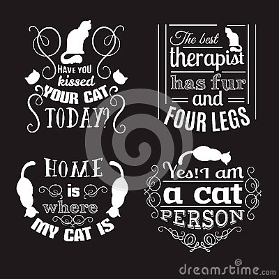 Free Collection Of Quote Typographical Background About Cats Stock Photo - 89484250
