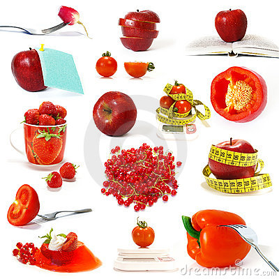 Free Collection Of Red Fruits And Vegetables Royalty Free Stock Photography - 6792387