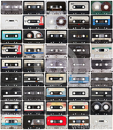 Free Collection Of Retro Audio Tapes Stock Image - 28279611