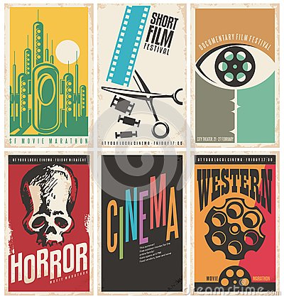Free Collection Of Retro Movie Poster Design Concepts And Ideas Stock Photos - 68800303