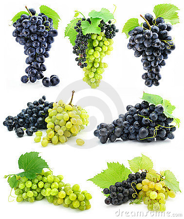 Free Collection Of Ripe Fruit Grape Cluster Isolated Stock Photos - 6764333