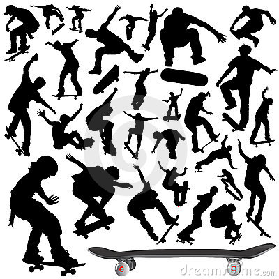 Free Collection Of Skateboard Vector Royalty Free Stock Photography - 3872387