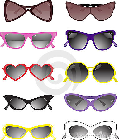 Free Collection Of Solar Glasses. Vector Illustration Stock Photo - 6071010