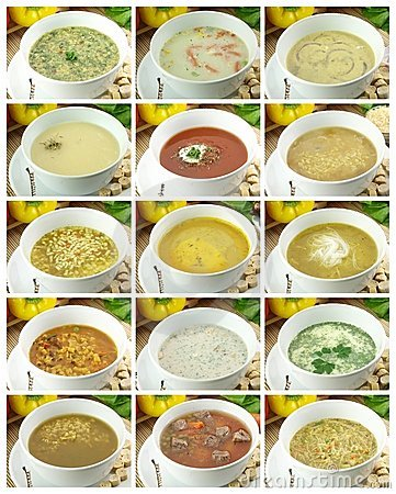 Free Collection Of Soups Stock Image - 17663821