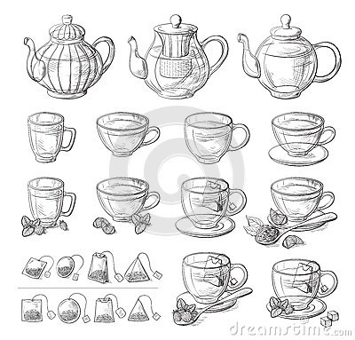 Free Collection Of Tea Leaves And Glass Teapot Royalty Free Stock Photo - 93304585