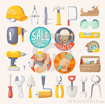 Free Collection Of Tools For House Remodeling Royalty Free Stock Photo - 53458085