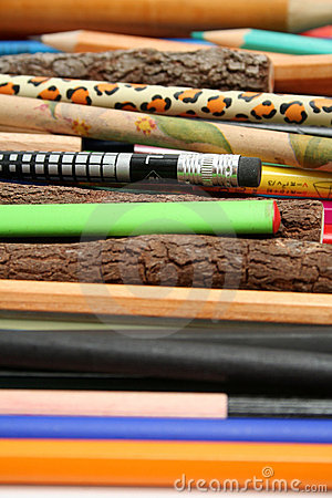 Free Collection Of Unusual Pencils For Plotting And Drawing Stock Photos - 1546843