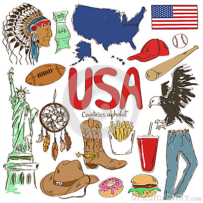 Free Collection Of USA Icons Stock Photo - 43067540