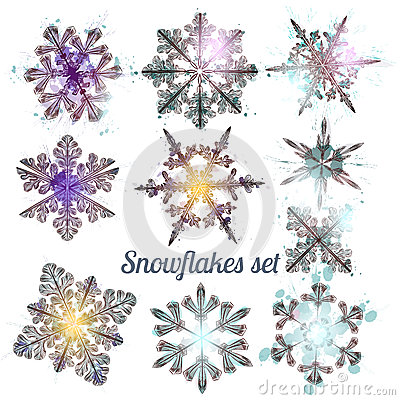 Free Collection Of Vector Filigree Snowflakes For Christmas Design Royalty Free Stock Images - 60609619