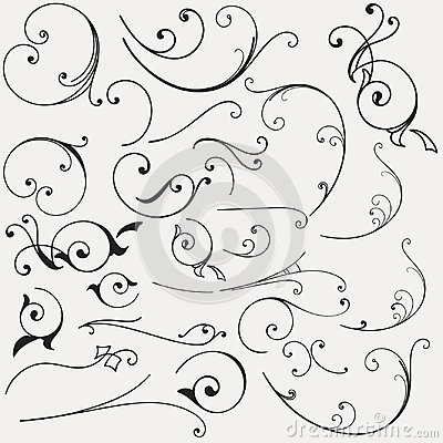 Free Collection Of Vector Flourishes Stock Photos - 113054343