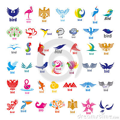 Free Collection Of Vector Logos Birds Stock Photo - 41170850