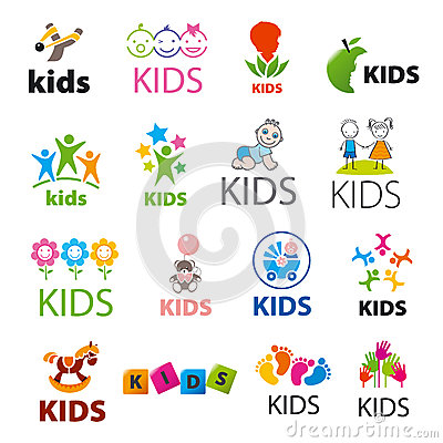 Free Collection Of Vector Logos Children Stock Image - 48002051